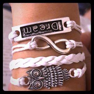 Lot of 10 Inspirational multi strand bracelets